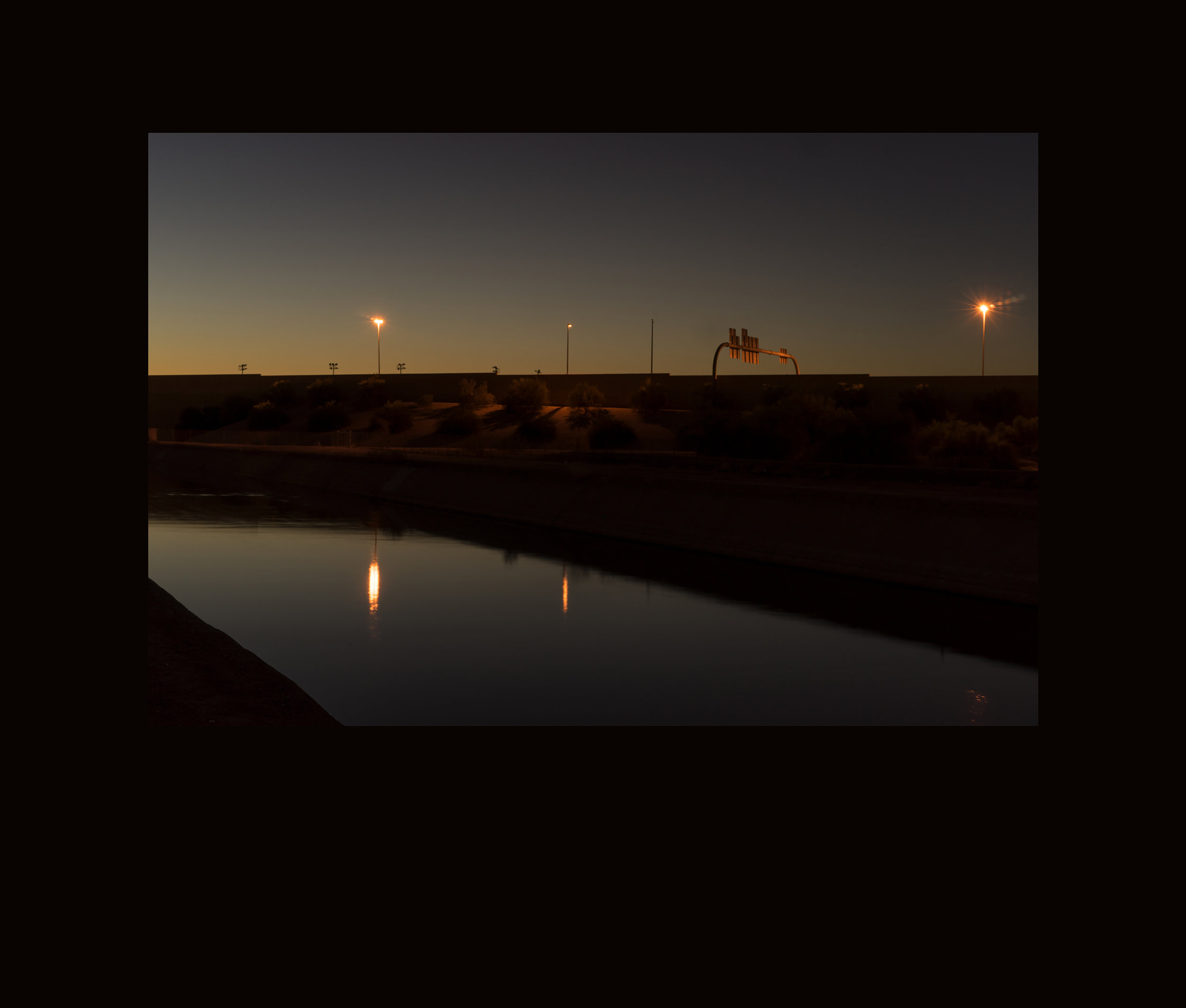 Night Water // Grand Canal at SR 51, Phoenix, AZ, 2016.