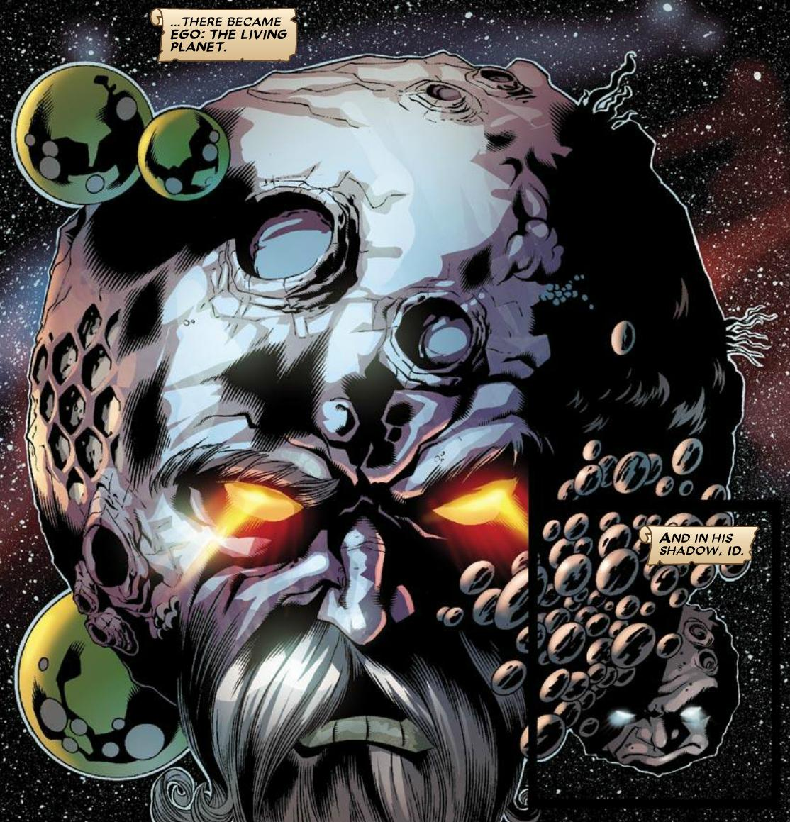 Ego is the name of a 'living planet' in Marvel comics - proof that Lee did read Freud maybe