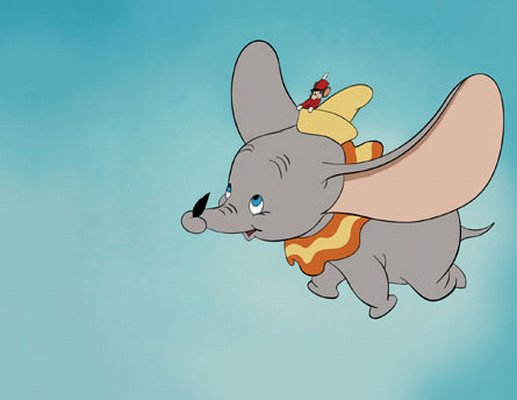Dumbo could fly, even without his feather
