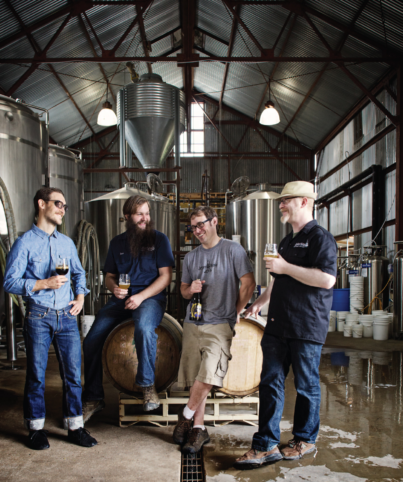 Texas' Jester King Craft Brewery crew.    Photo by Jody Horton