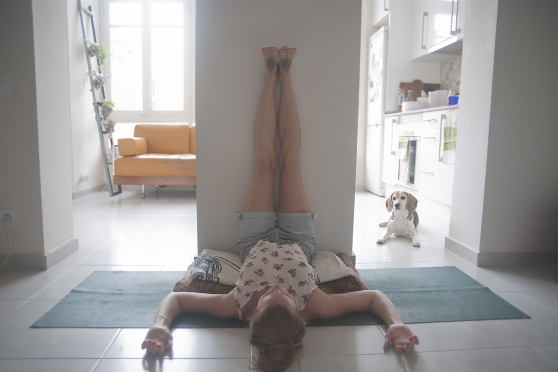 VARIATION: Viparita Karani (Legs-Up-The-Walls Pose)