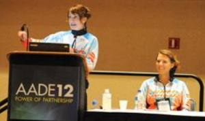Marcey & Jennifer Smith, RD, LD, CDE speaking at the American Association for Diabetes Educators 2012 National Conference.