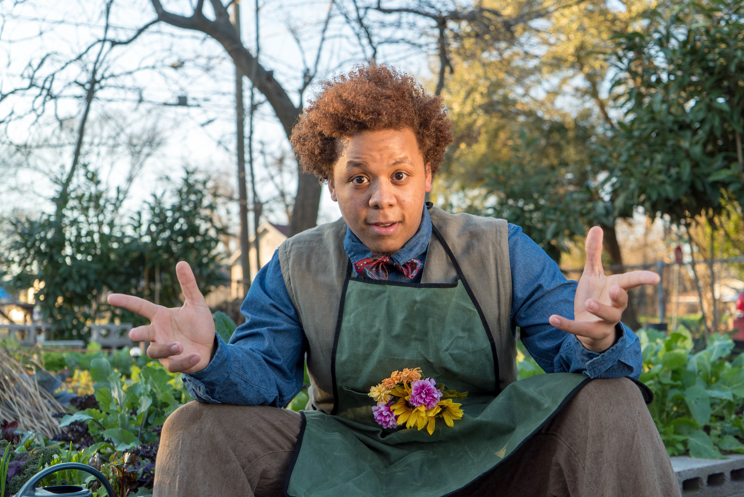Jason Wright in Brave Little Company's production of  Grandpa's Garden