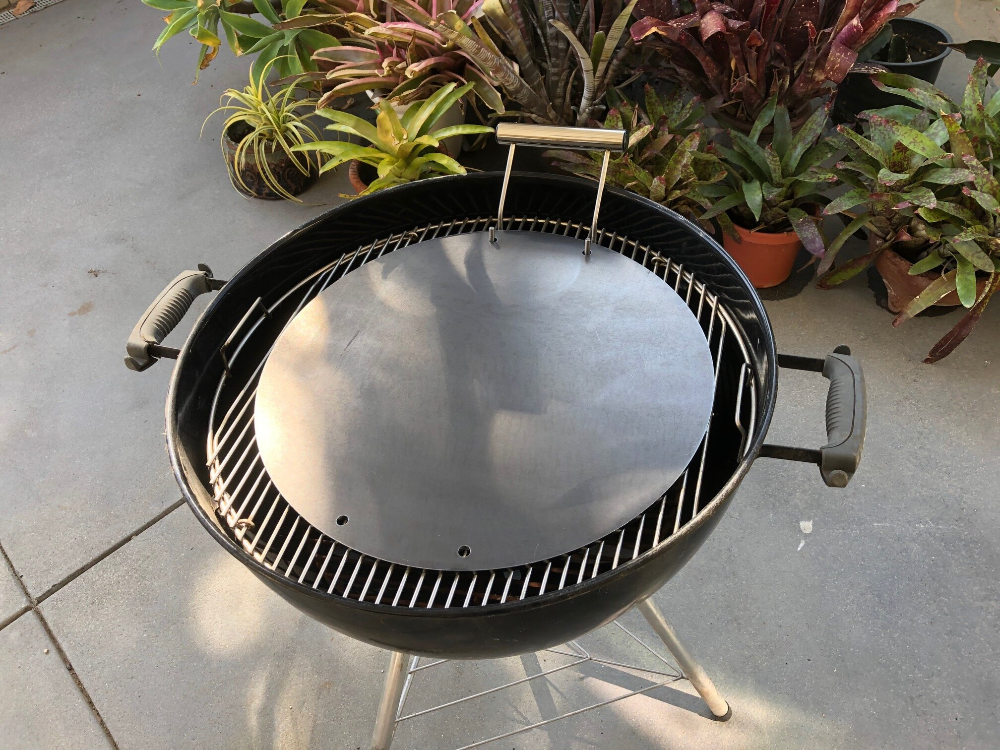 """The 18"""" diameter  Ballistic Mojoe  griddle for use in most backyard BBQ grills."""