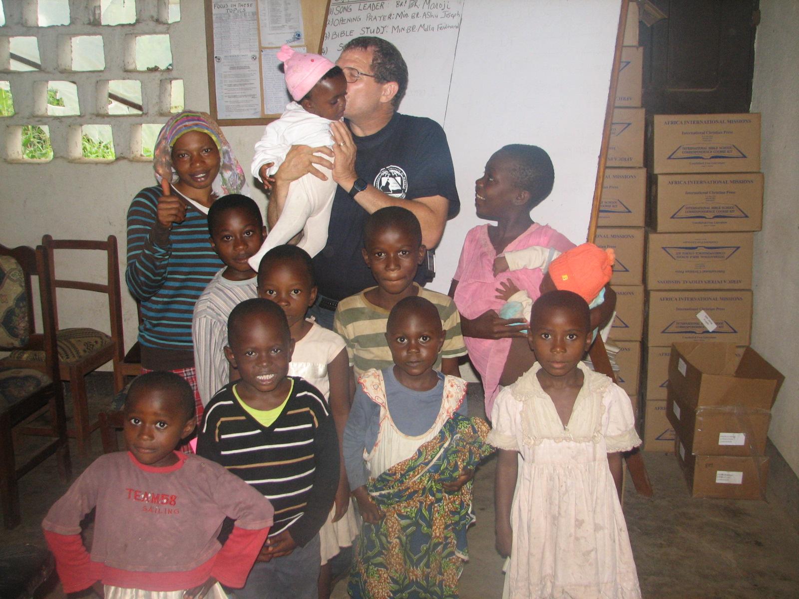 David and the children.JPG