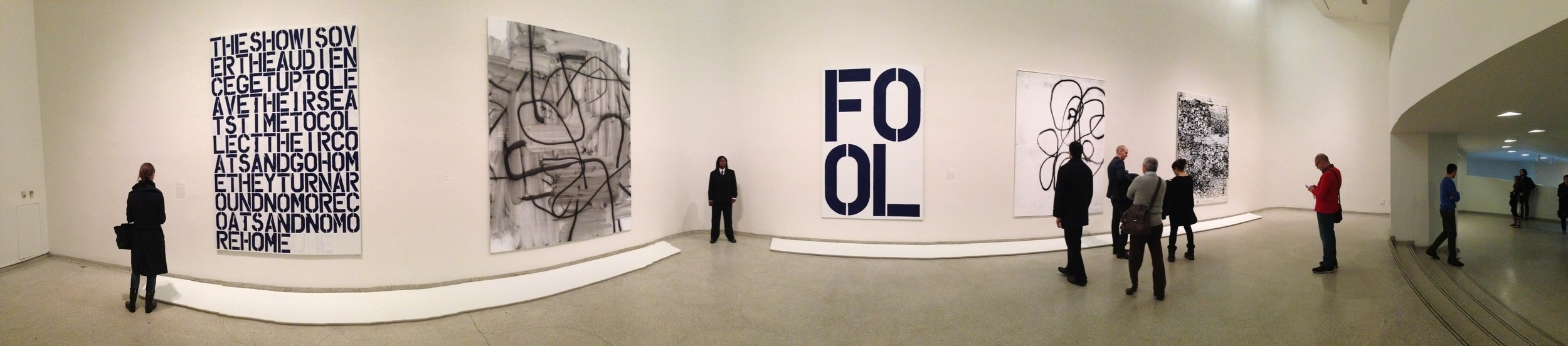 Exhibition Image,  Christopher Wool,  Guggenheim Museum, New York Photo Credit: Cincala Art Advisory