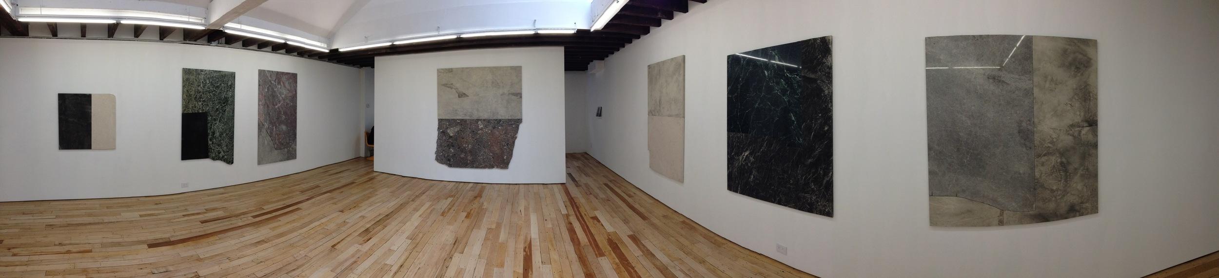 Exhibition Image, More Weight, Sam Moyer at Rachel Uffner Gallery, Lower East Side Photo Credit: Cincala Art Advisory