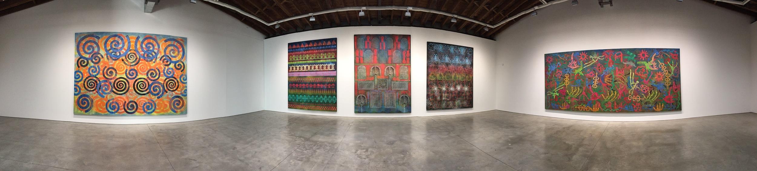 Exhibition Image,   Philip Taaffe  , Luhring Augustine, Bushwick, New York.   Photo Credit:Cincala Art Advisory