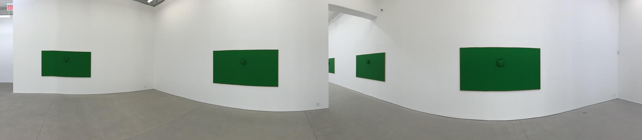 Exhibition Image, Calvin Marcus,  Green Calvin  ,  Clearing Gallery, Bushwick, New York Photo Credit:Cincala Art Advisory