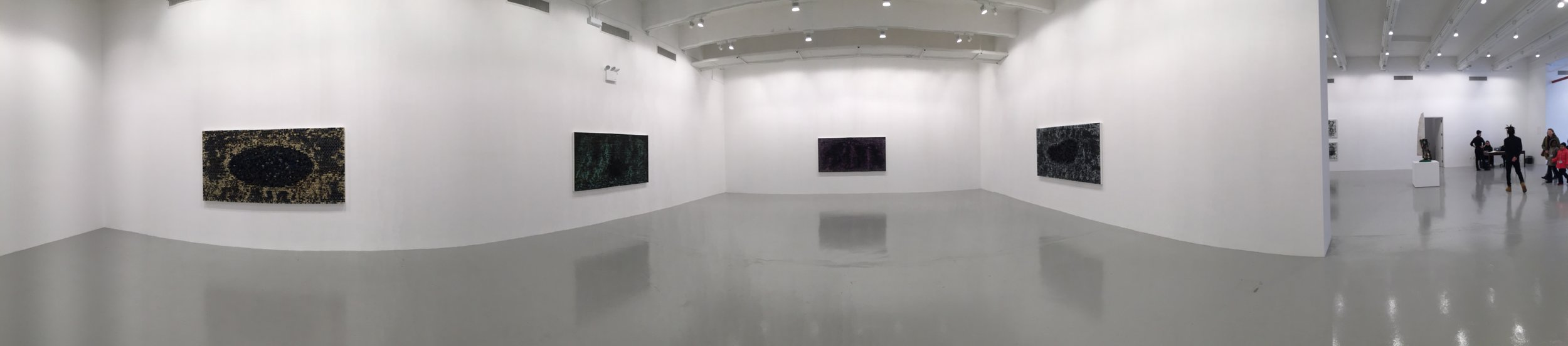 Installation image,  Jack Whitten , Hauser & Wirth, New York Photo Credit: Cincala Art Advisory