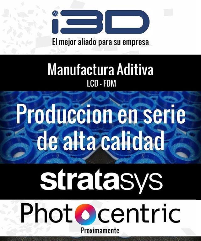 VALIDE y obtenga produccion de sus productos con nosotros.  Contactenos www.i3D.com.co +57 310 444 0113