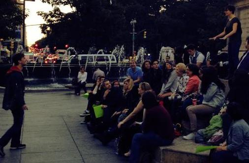 Columbus Circle with co-star Suzanna Bonn and my favorite crowd ever
