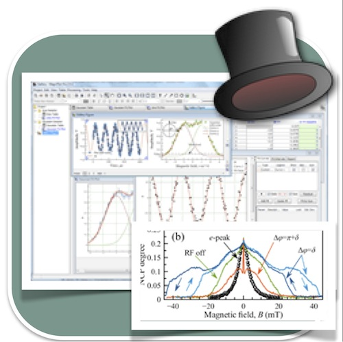 Cross platform graphing software based on Java for plotting X-Y graphs. Non-linear curve fitting and multiple output options.