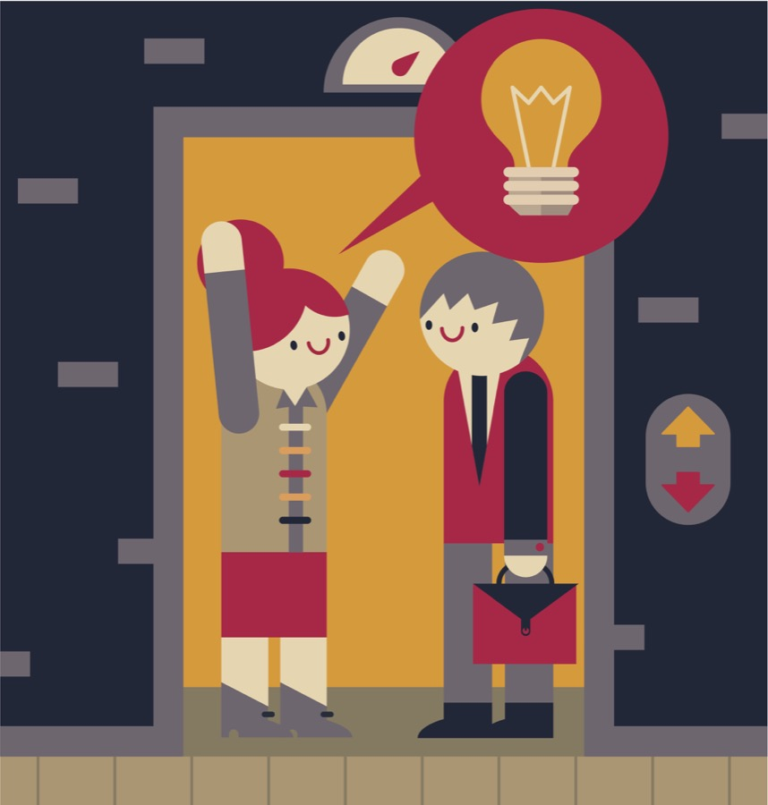 A good elevator pitch should get across your passion for research in basic terminology. By the time you reach the bottom (or the top) your new friend will be engaged in who you are, what you do and will want to know more!