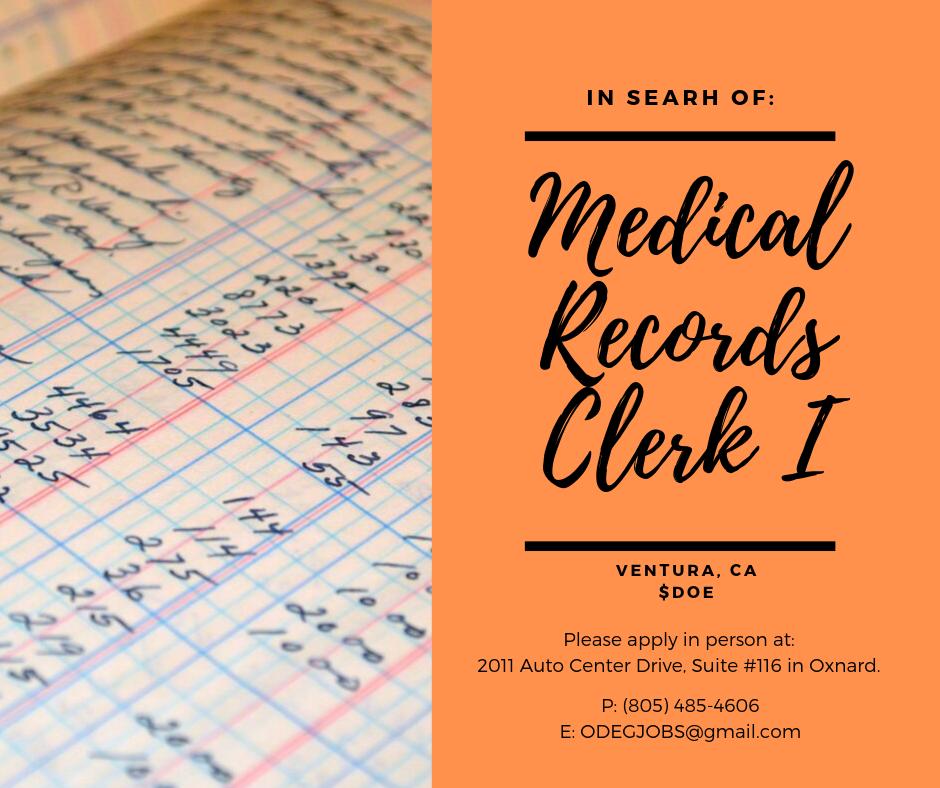 2019.09.24 Medical Records Clerk I.png