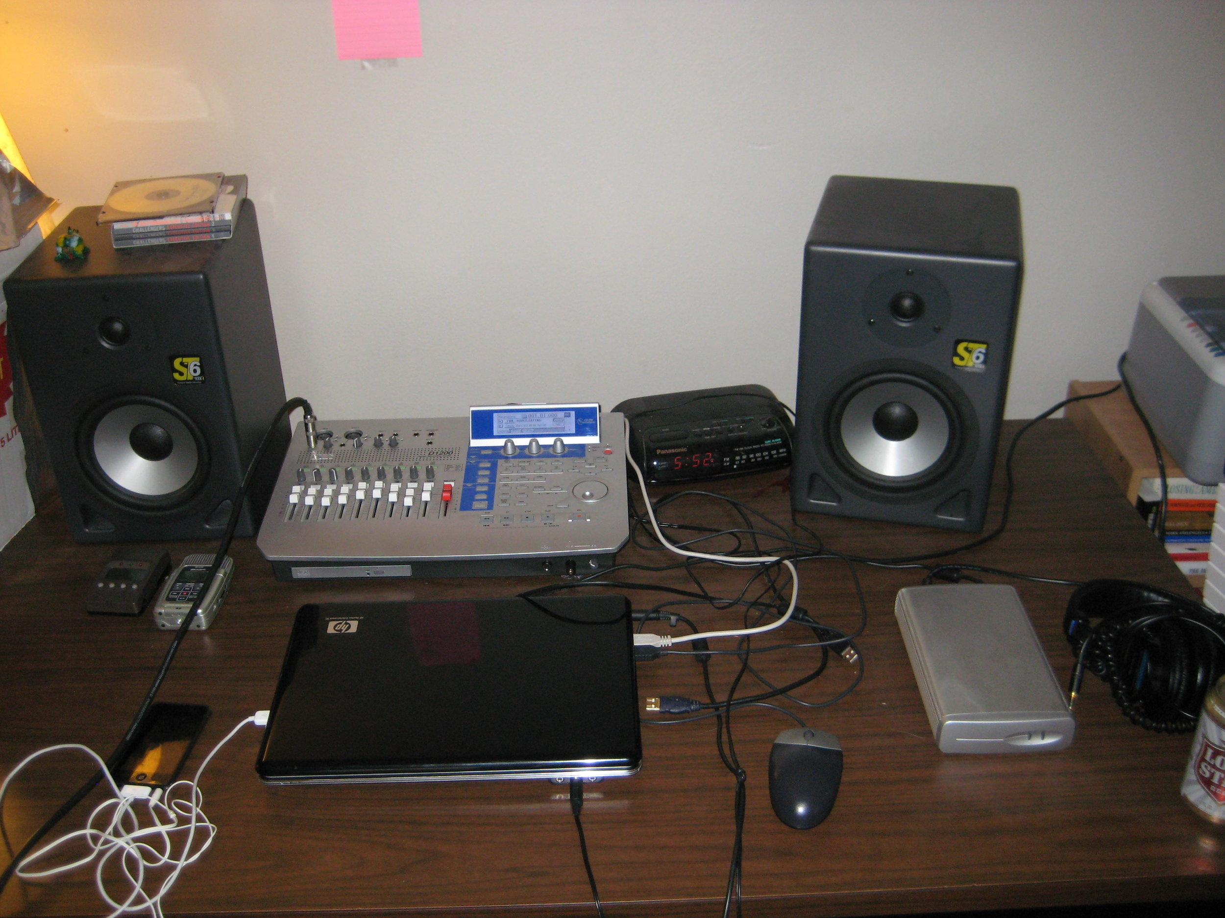 Amateur Home Recording Setup used to record DANGER.  Lubbock, 26th st., 2008.