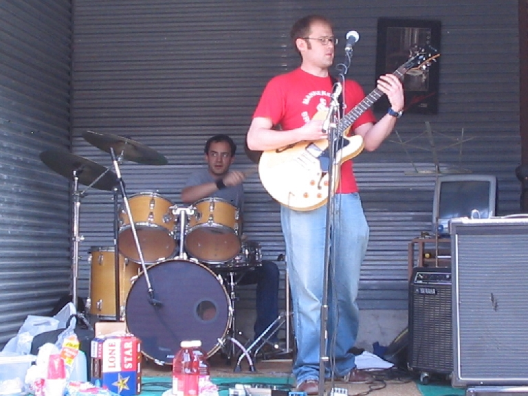 Throwback Thursday, y'all. The Tease and the Terror. Probably 2005. Storage Space in Austin. Played one show to our girlfriends. This was it.