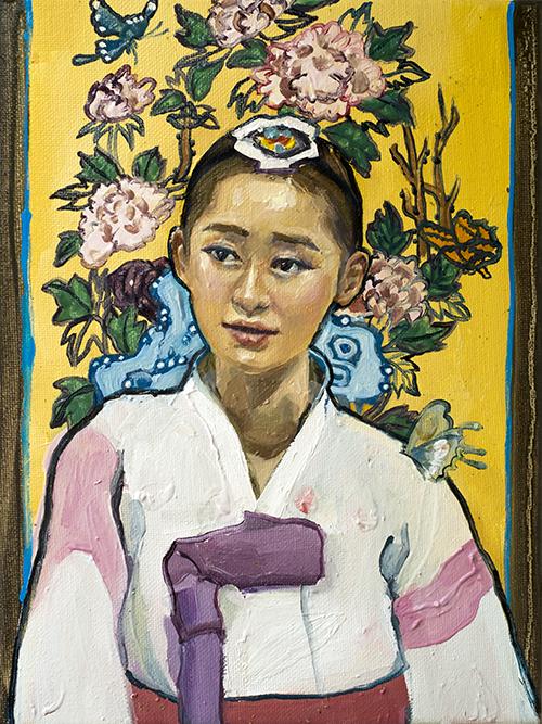 """""""Park Yeon Mi"""" 9 x 12"""" Oil on canvas"""