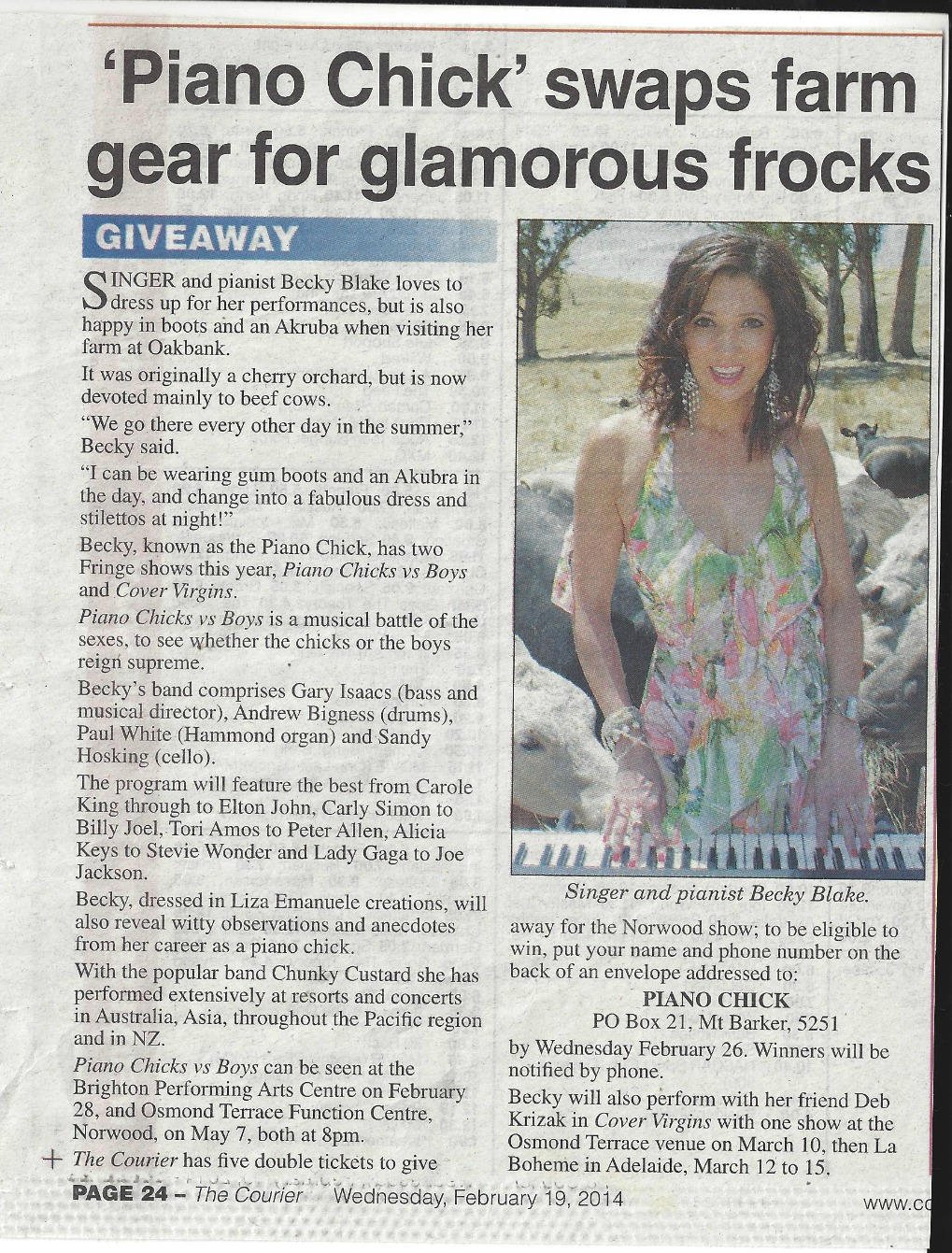 Adelaide Hills Courier, February 19th, 2014