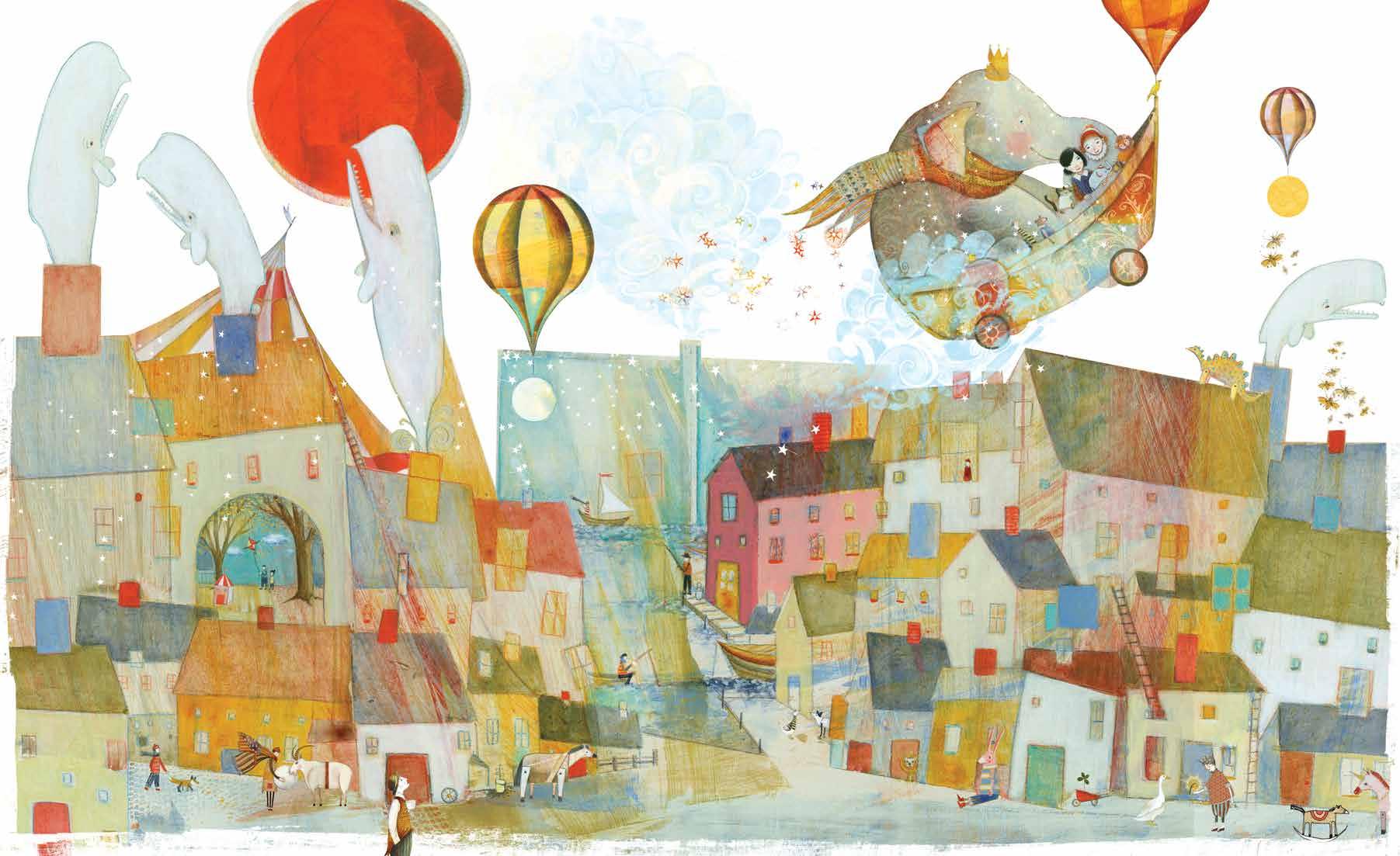 Illustration: Pamela Zagarenski,  Zola's Elephant