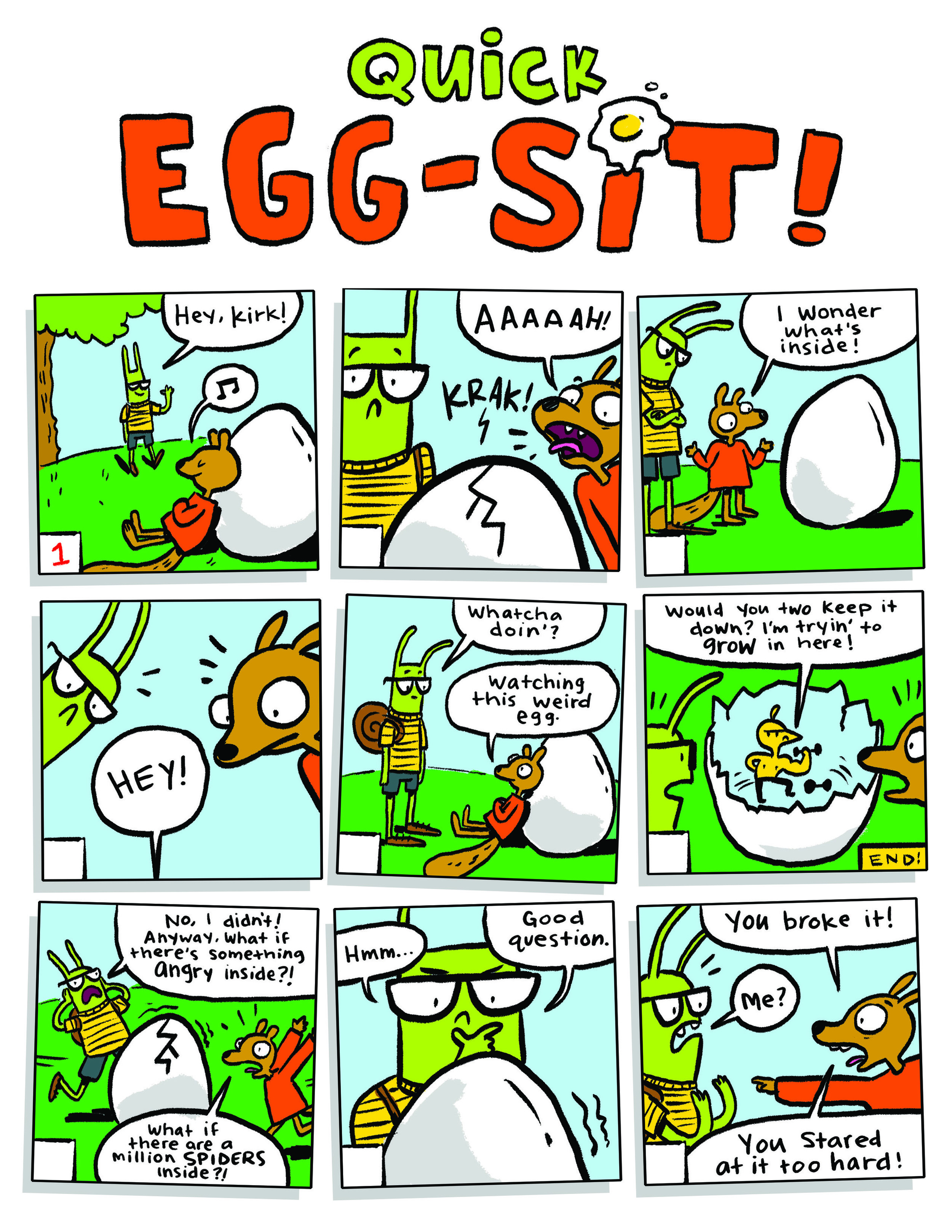 Quick Egg-Sit! - For Owl Magazine