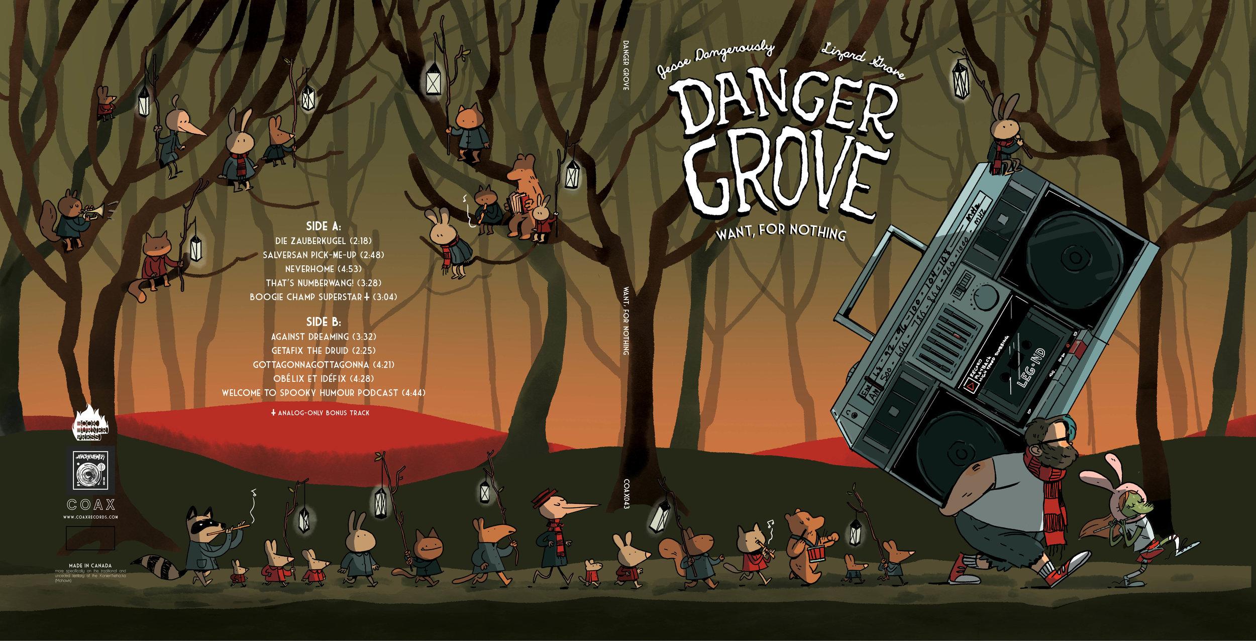 Exterior sleeve for Danger Grove vinyl
