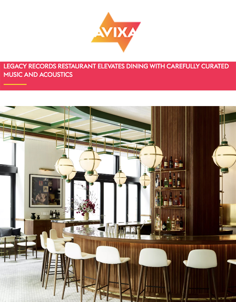 AVIXA   CO-Founder Matt Emmi explains why carefully curated music and acoustics in a restaurant setting plays large part in ambiance.
