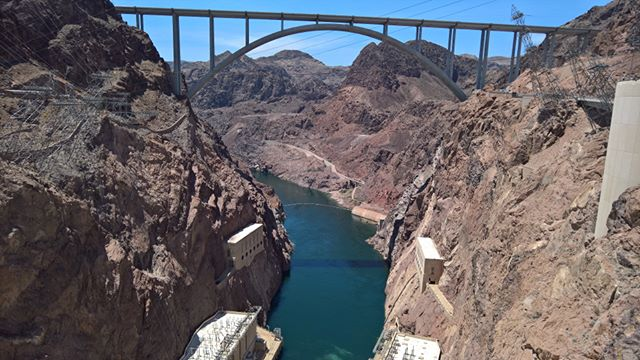 On top of the Hoover Dam #roadtrip