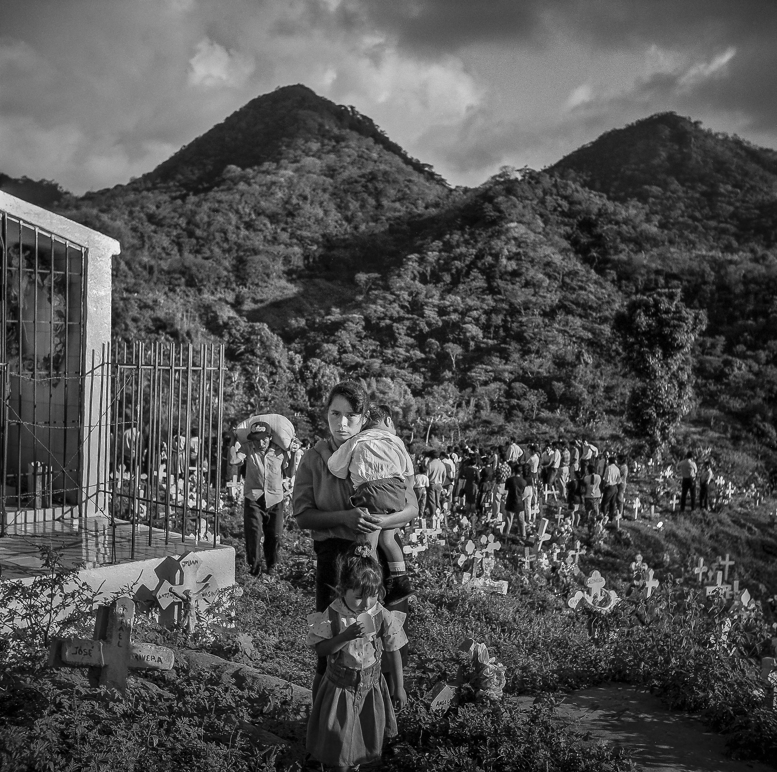 Funeral for her dad in Panchimalco, El Salvador
