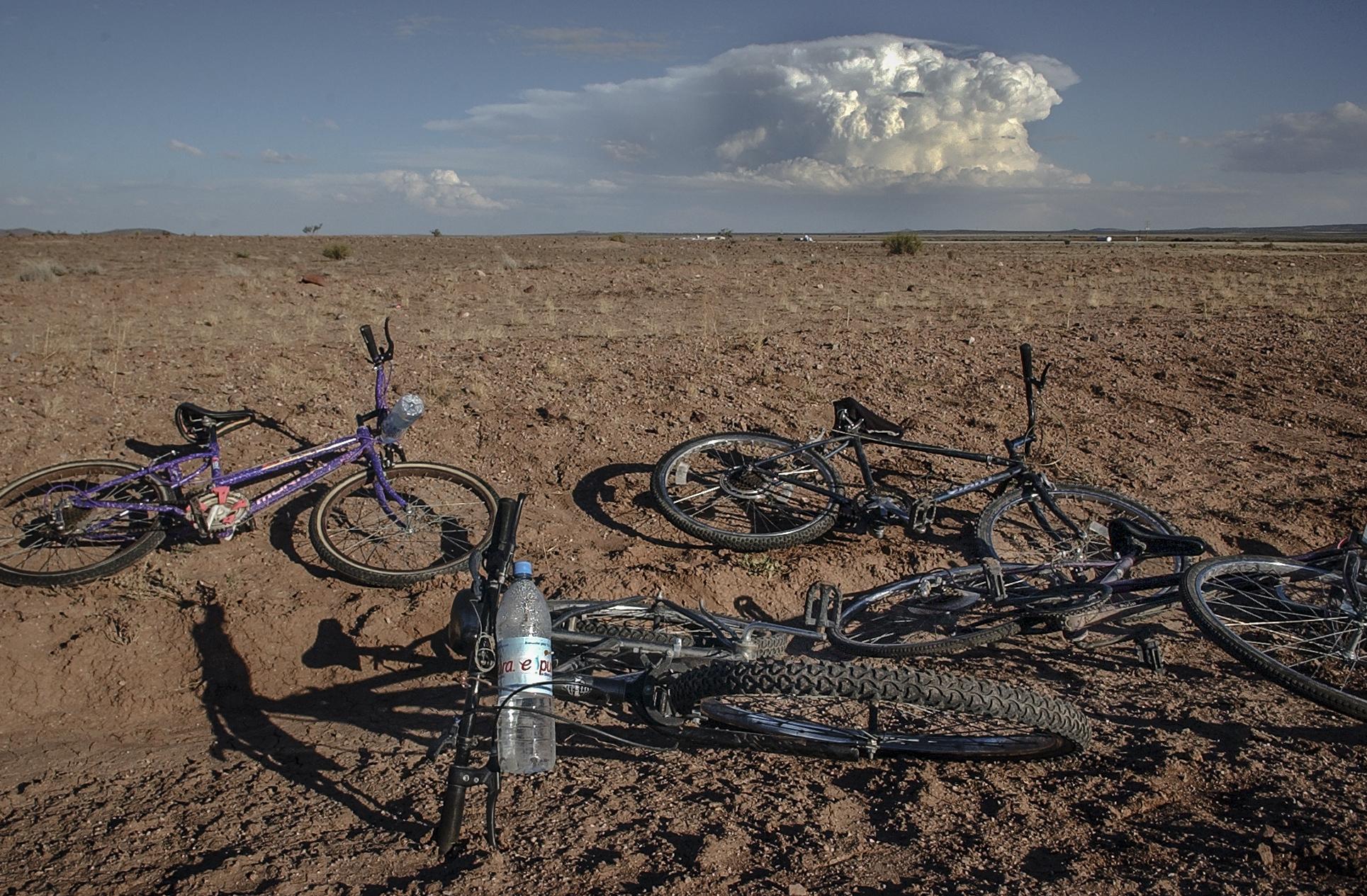 Left in the desert in New Mexico.