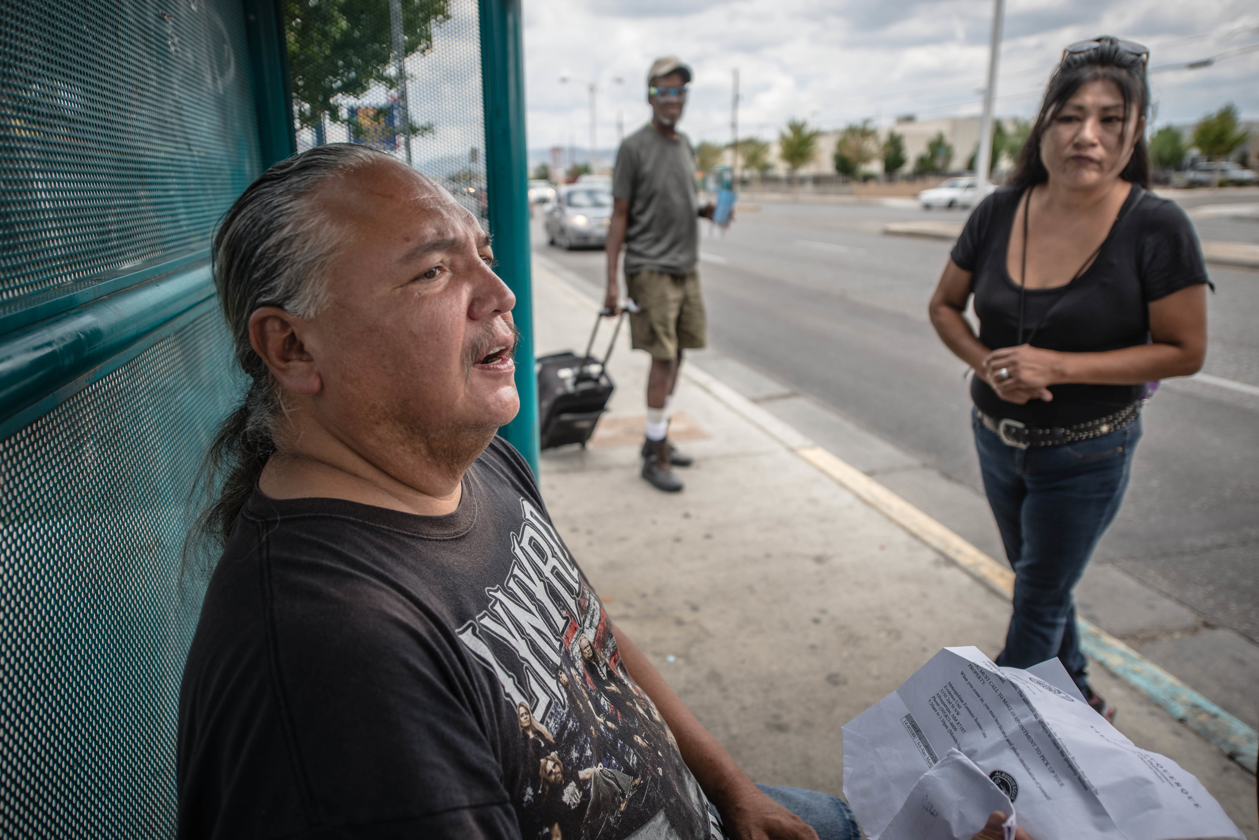 A Native American man and his wife talk about their experiences of being assaulted on the streets of Albuquerque.