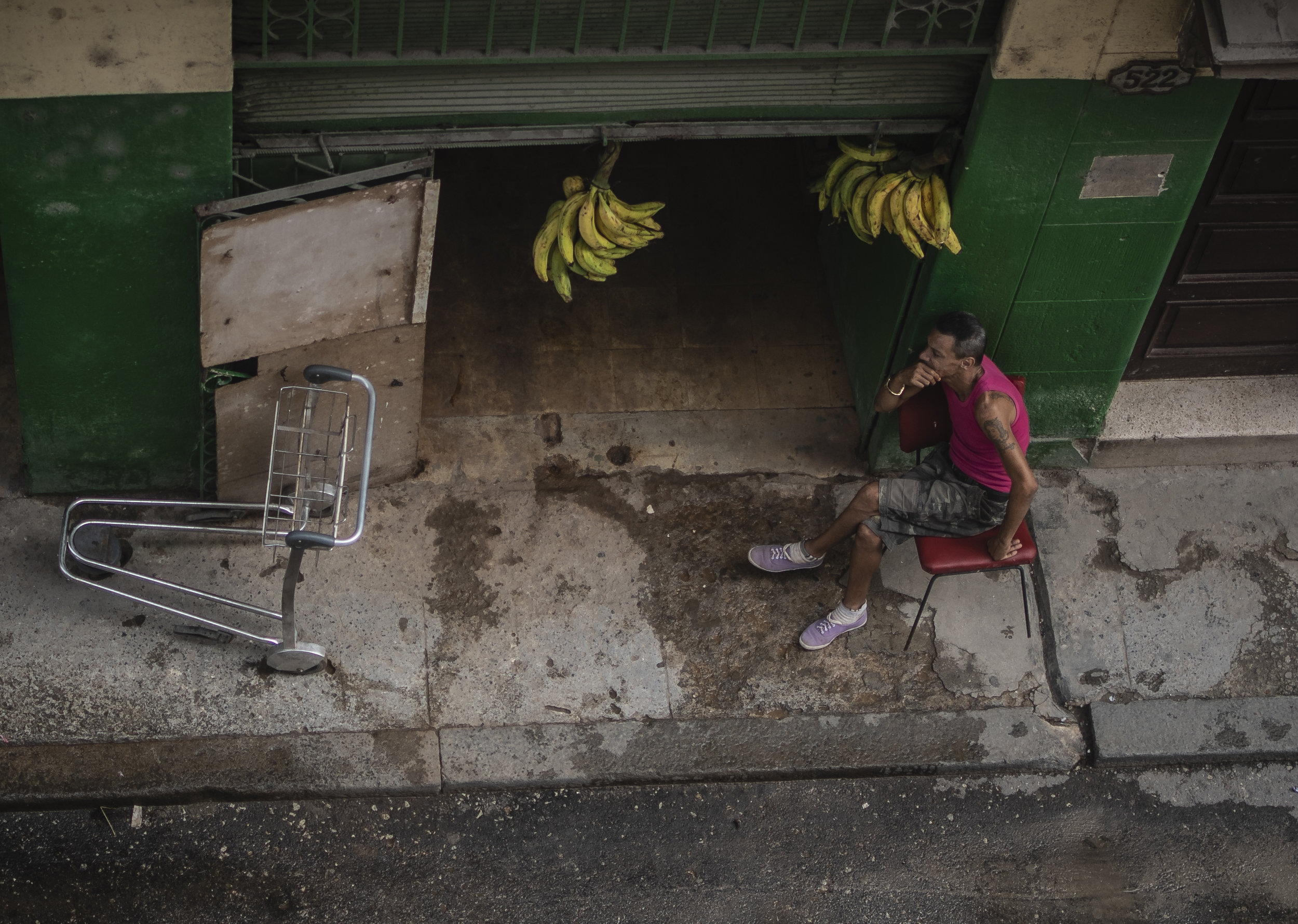 Waiting for delivery in Old Havana.  July 2019