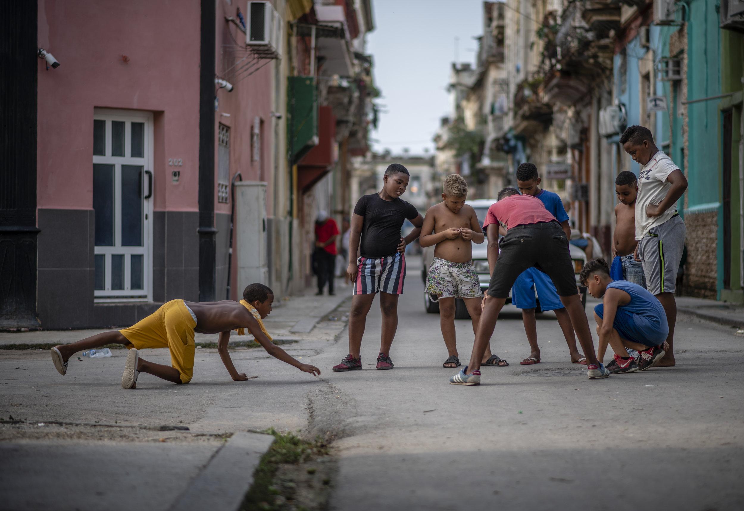 Marbles in Old Havana.  July 2019