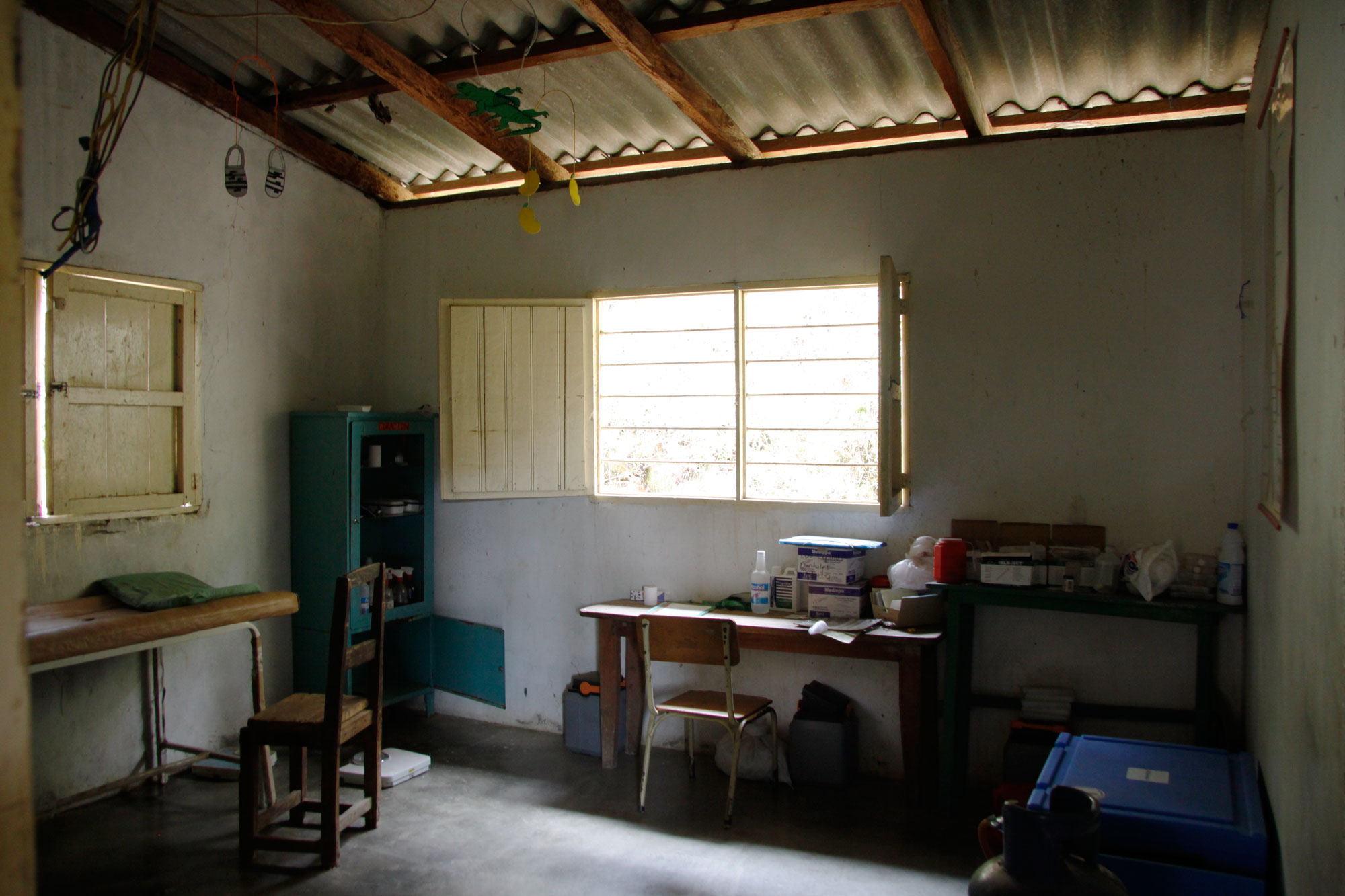 Inside the Health House at Donachui, July 2014