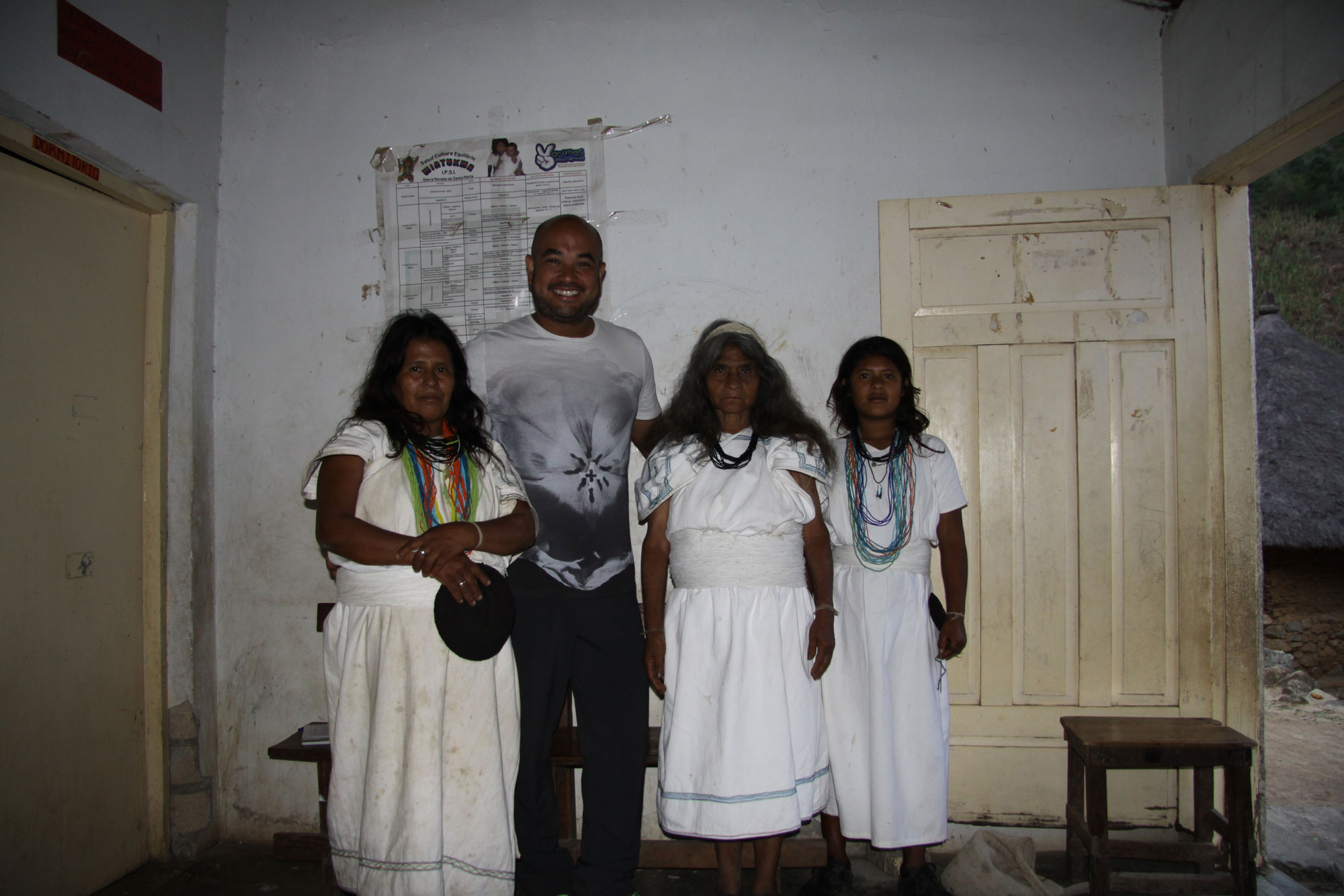 With some patients in Donachui, July 2014
