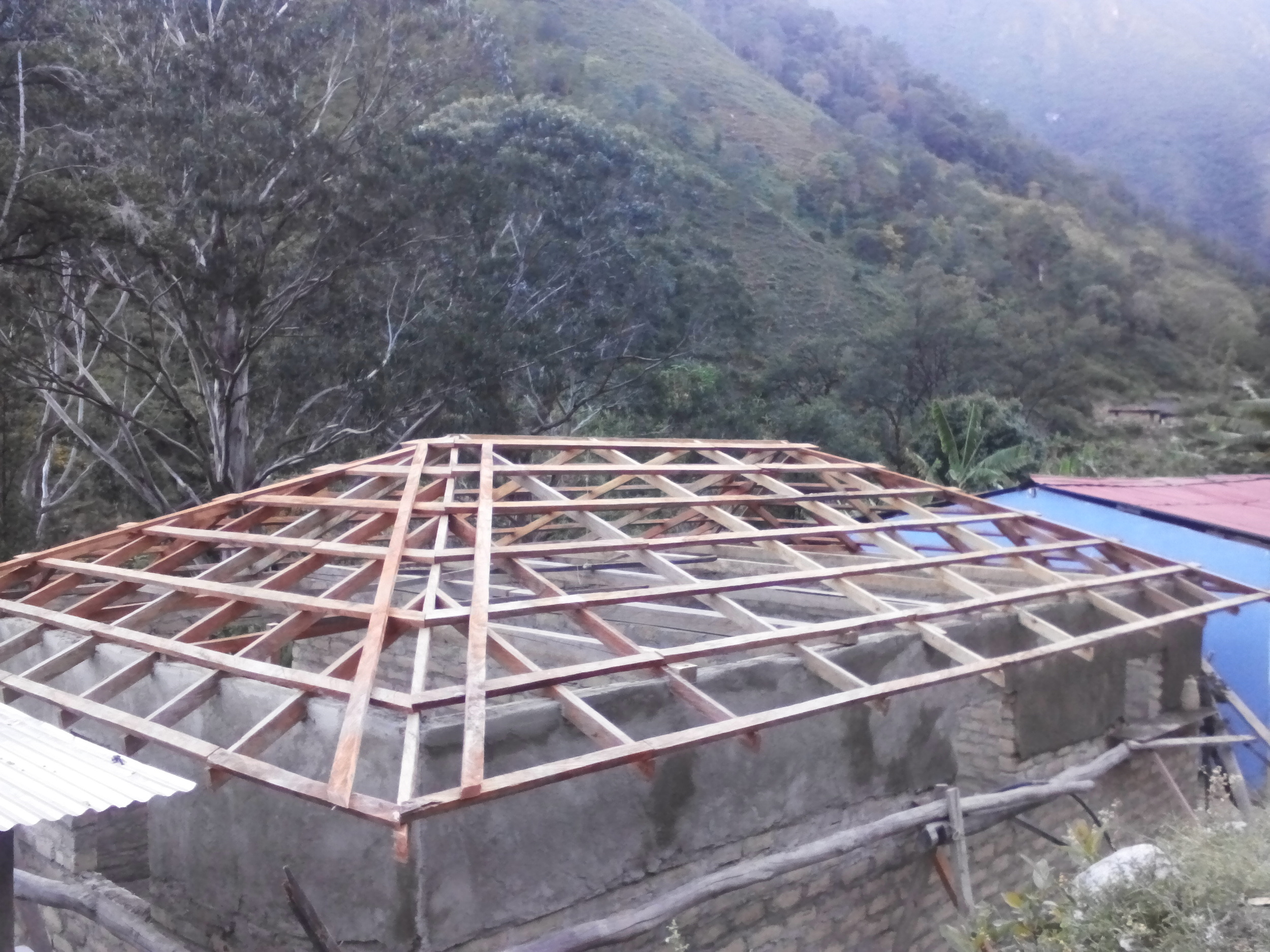 Frame for the school roof