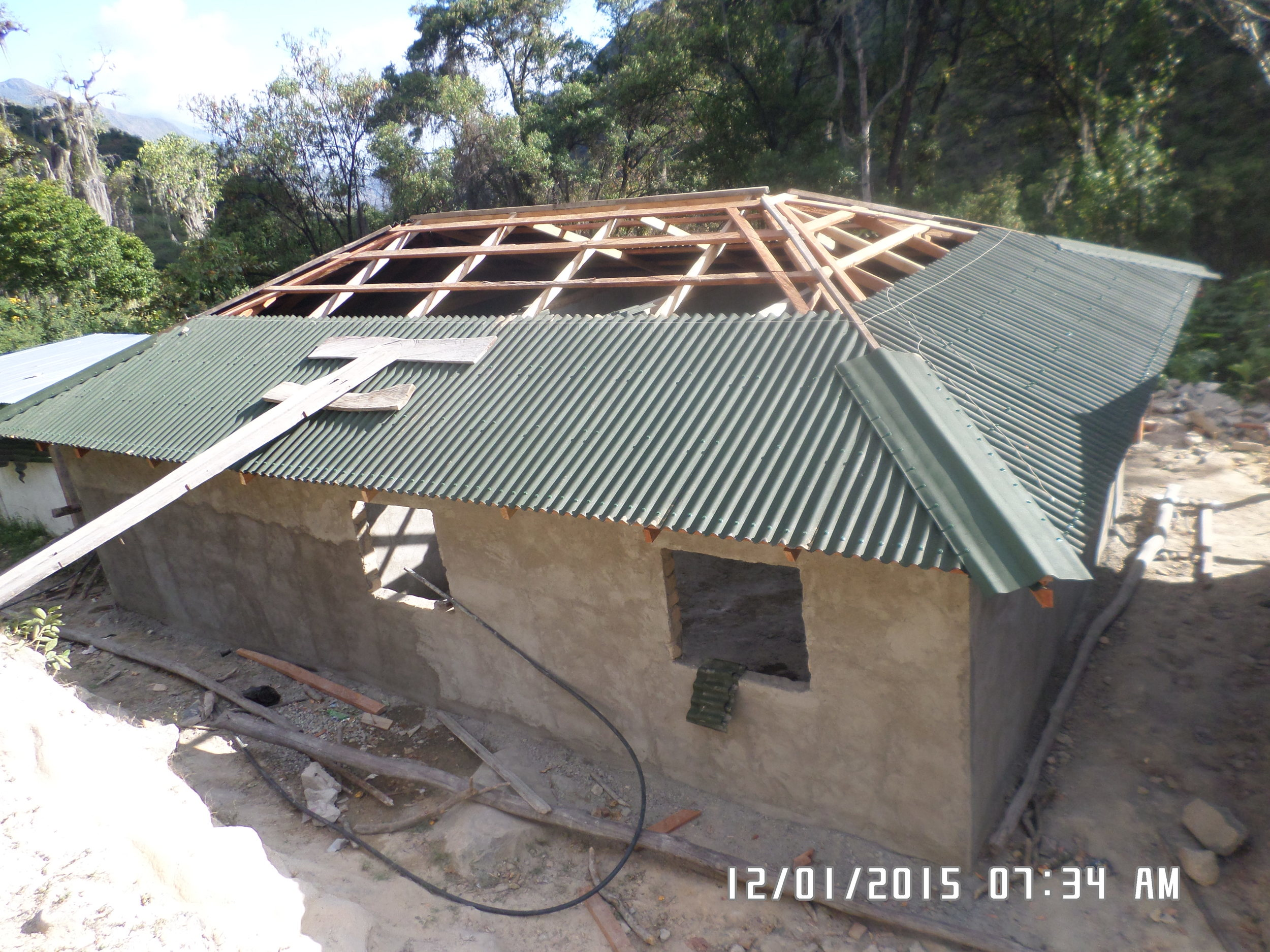 Roof is almost completed
