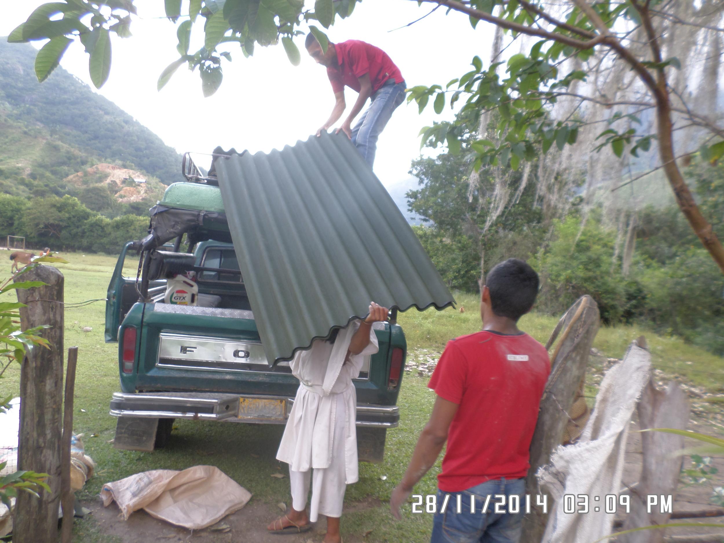 Downloading the materials at Sabana Crespo
