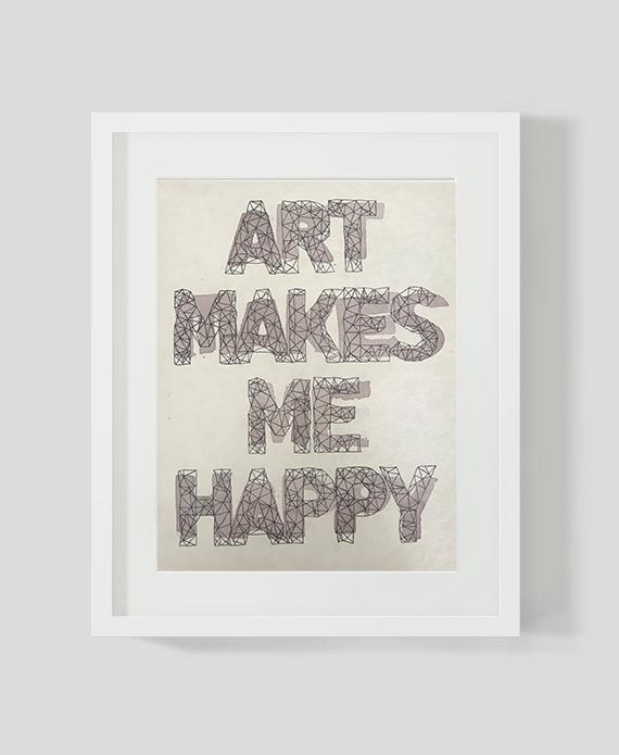 Art makes me happy