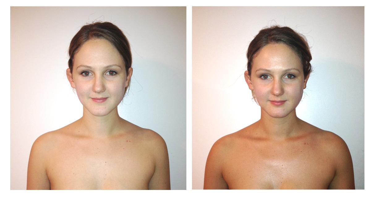 Jolene Express tan before & after