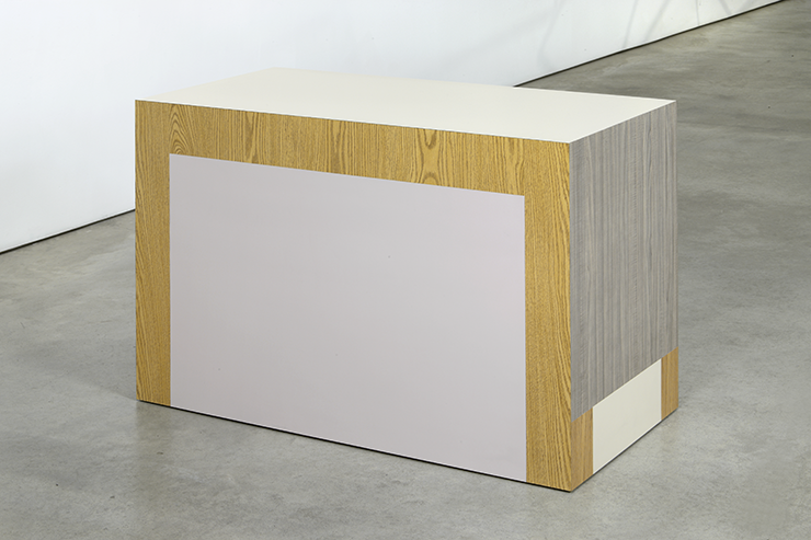 Richard Artschwager, Table (Drop Leaf), 2008 formica on wood, 30 x 22 x 44 in 76.2 x 55.9 x 111.8 cm Image Courtesy of  David Nolan Gallery