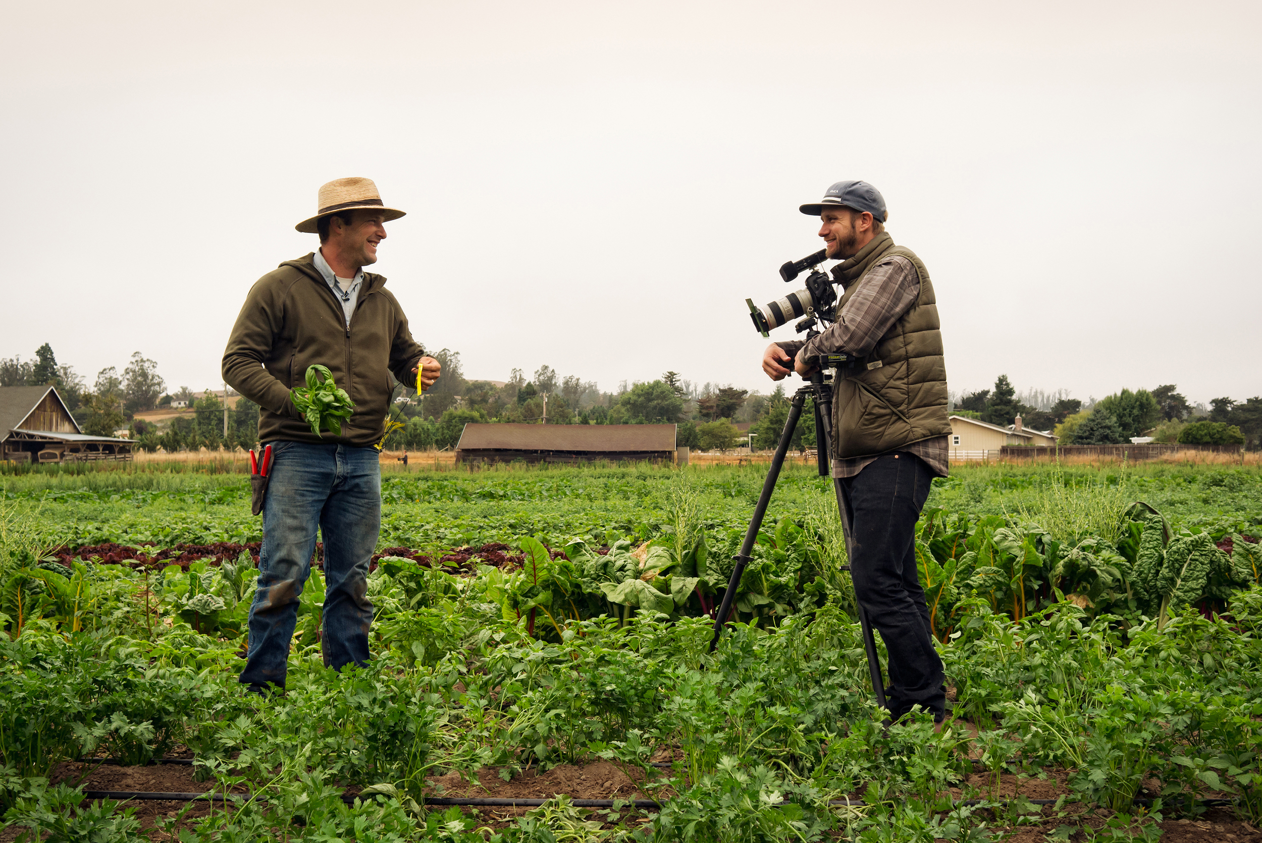 "Farmer Jesse Pizzitola of First Light Farm (left) and Filmmaker Jayson Carpenter.  Photo by Frank              Gaglione.       Normal   0           false   false   false     EN-US   X-NONE   X-NONE                                                                                                                                                                                                                                                                                                                                                                           /* Style Definitions */  table.MsoNormalTable 	{mso-style-name:""Table Normal""; 	mso-tstyle-rowband-size:0; 	mso-tstyle-colband-size:0; 	mso-style-noshow:yes; 	mso-style-priority:99; 	mso-style-parent:""""; 	mso-padding-alt:0in 5.4pt 0in 5.4pt; 	mso-para-margin-top:0in; 	mso-para-margin-right:0in; 	mso-para-margin-bottom:10.0pt; 	mso-para-margin-left:0in; 	line-height:115%; 	mso-pagination:widow-orphan; 	font-size:11.0pt; 	font-family:""Calibri"",""sans-serif""; 	mso-ascii-font-family:Calibri; 	mso-ascii-theme-font:minor-latin; 	mso-hansi-font-family:Calibri; 	mso-hansi-theme-font:minor-latin;}"