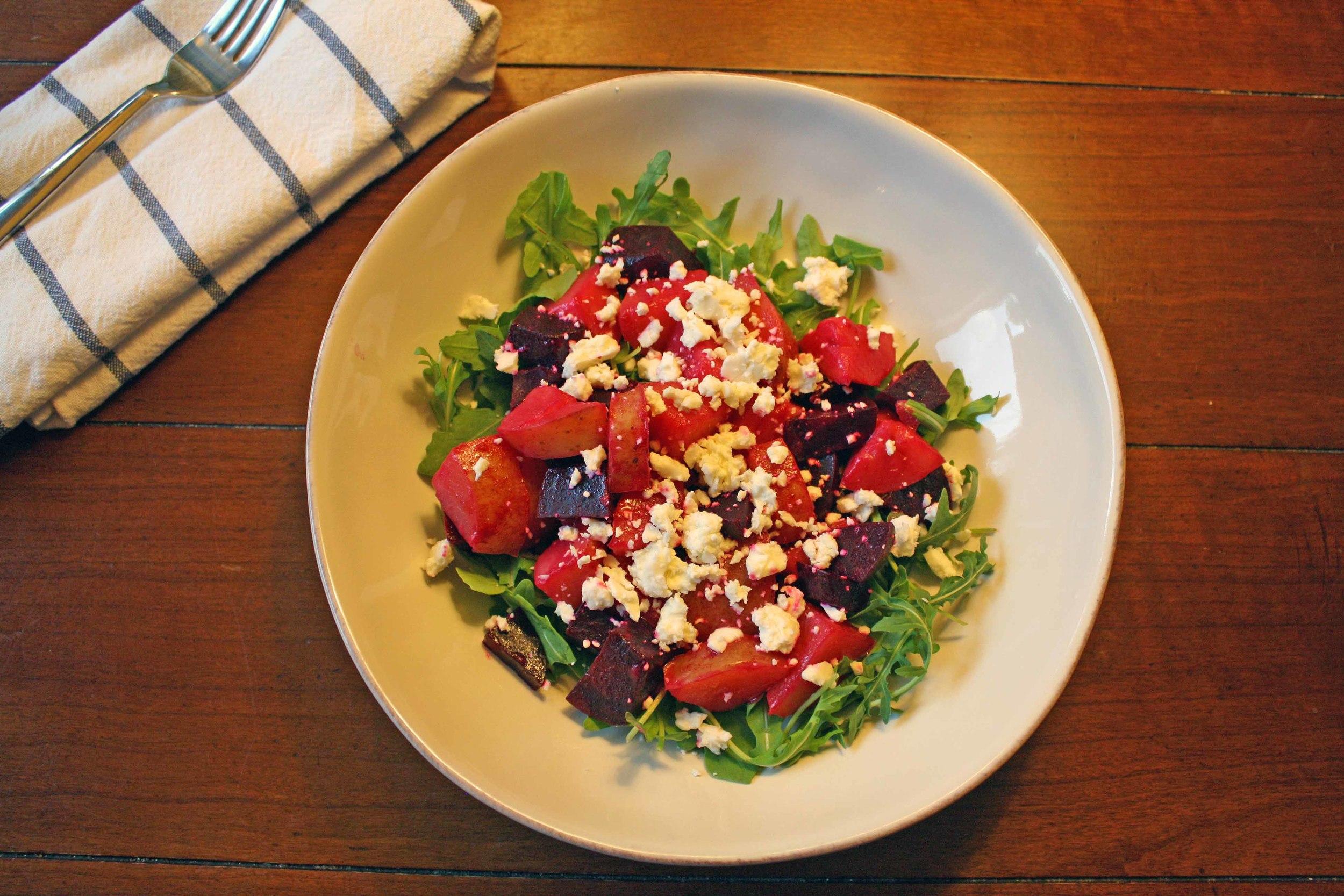 Roasted Beet and Arugula Salad. Photo by volunteer Kira Bennett Hamilton.