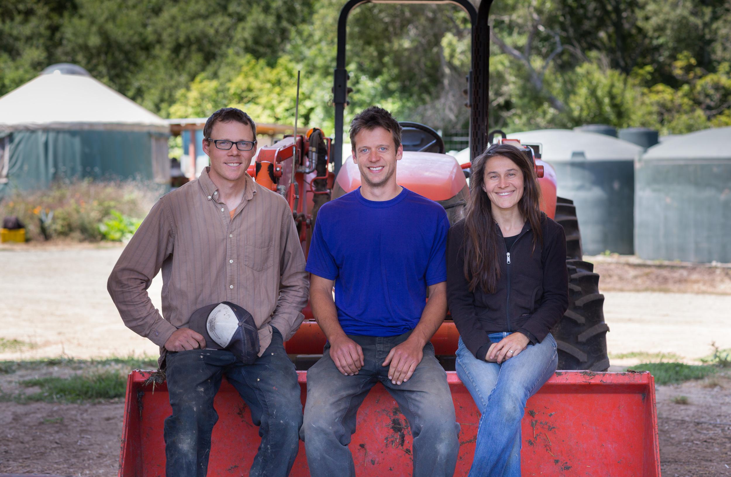 John, Mike and Teresa, Farmers