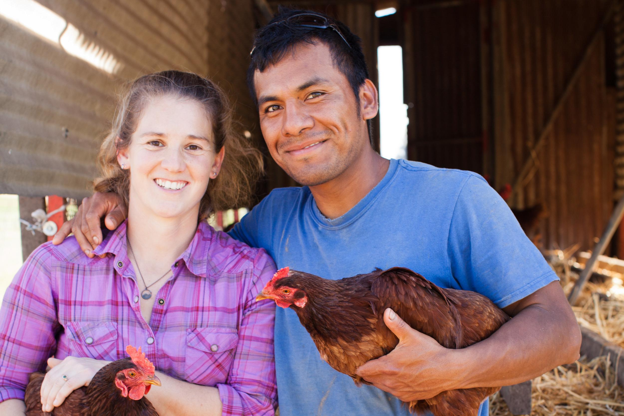 Sarah and Aurelio Lopez of Fiesta Farm