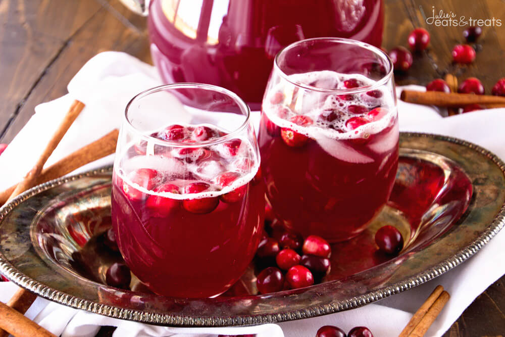 Skinny Spiced Cranberry Punch