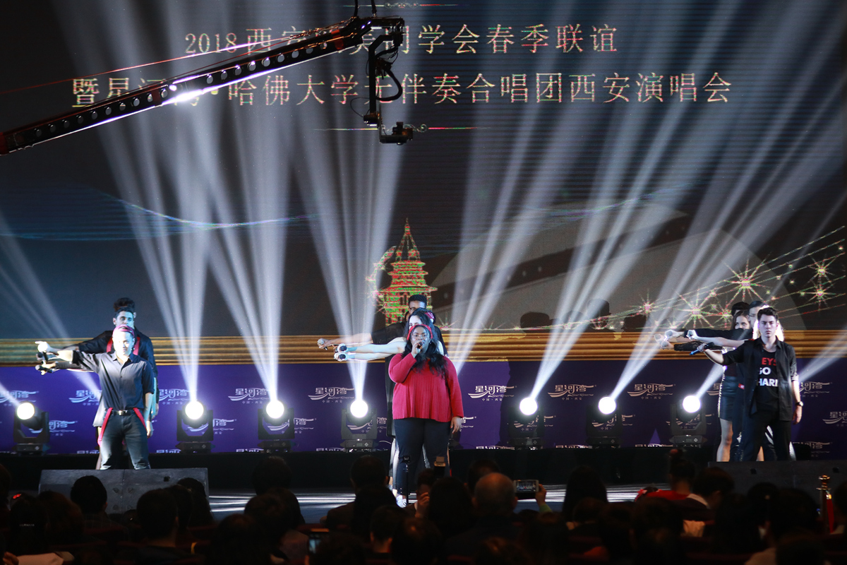 The LowKeys performing in X'ian, China at our 2018 Spring Break tour to China!