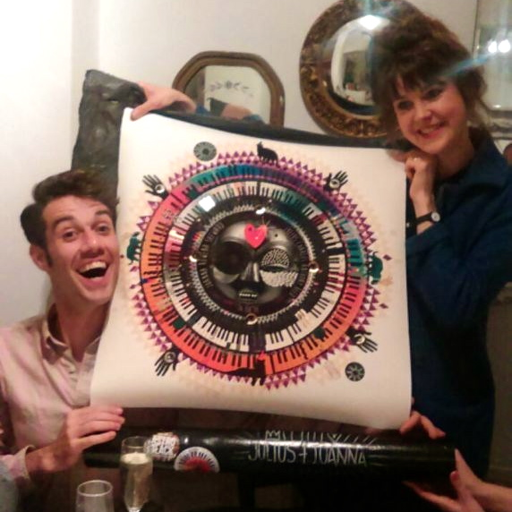 And here are the lovely couple receiving the print : )