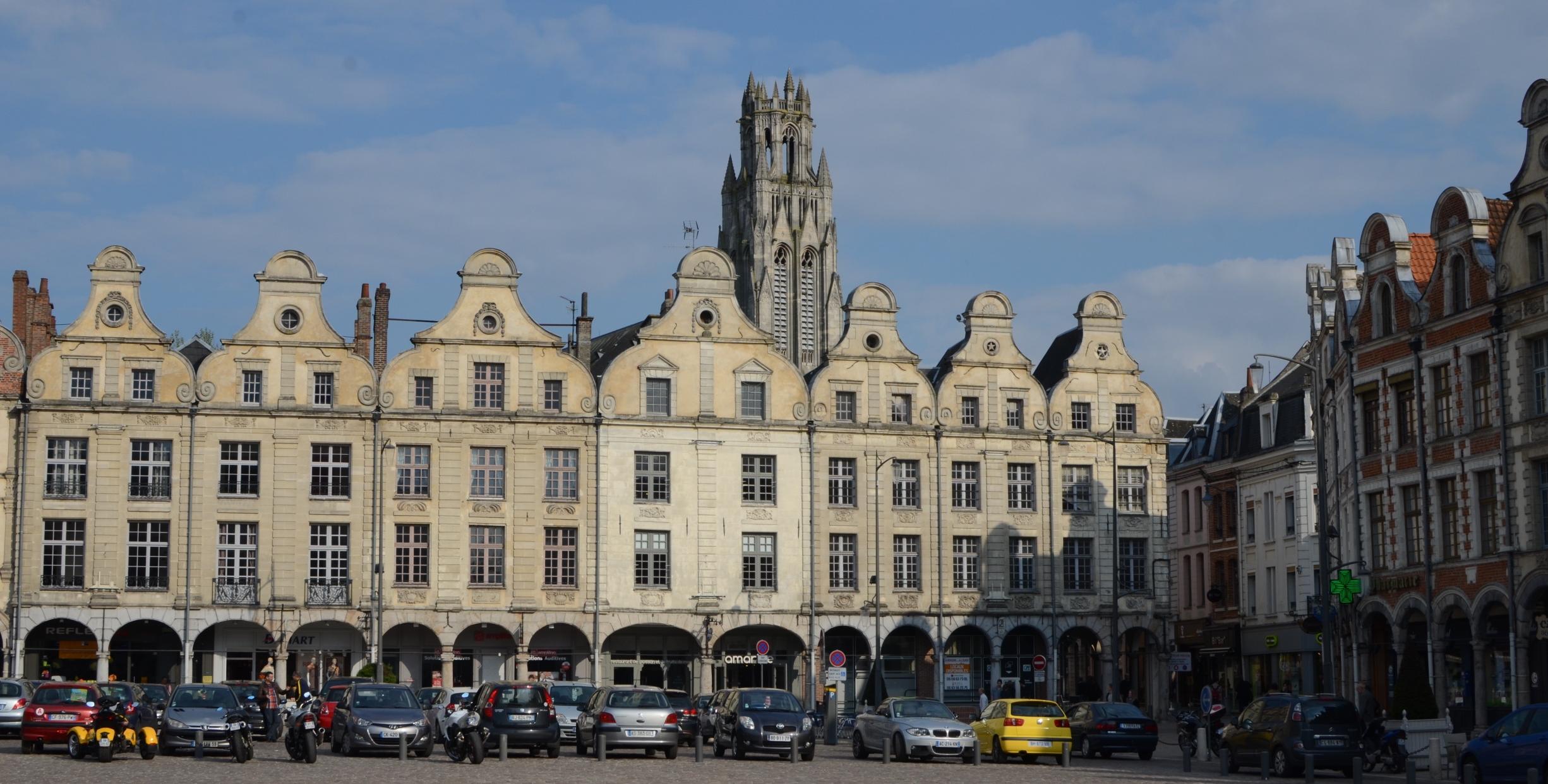 The main city square in Arras