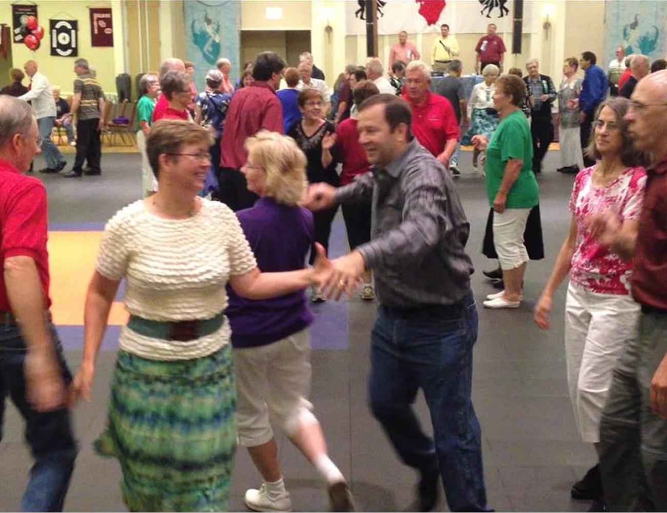 Members Dancing at Square Dance Convention